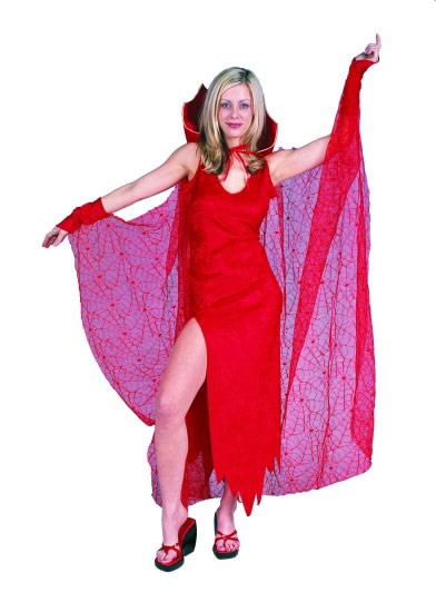 Adult Red Spider Web Cape