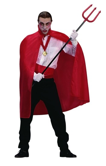 Adult Red Taffeta Cape