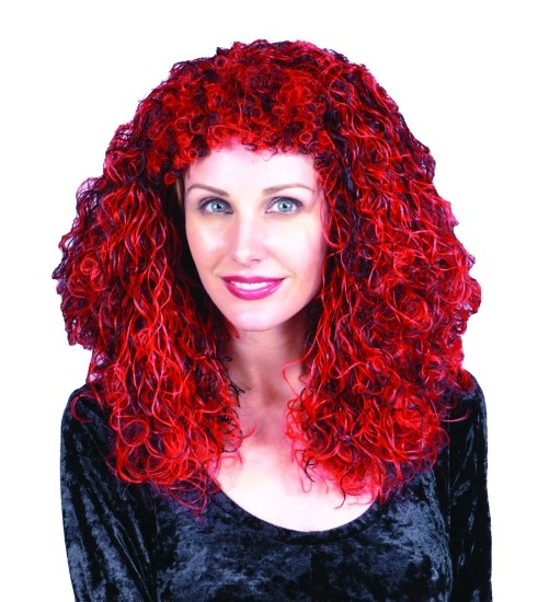 Adult Red and Black Wig