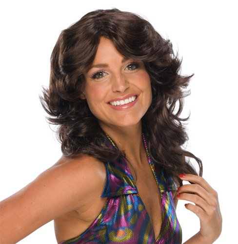 Adult Retro Brown Wig