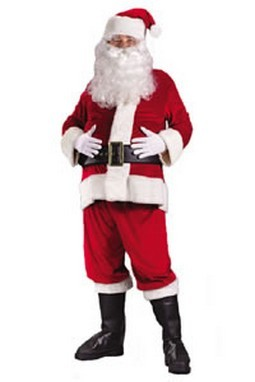 Adult Rich Velvet Santa Costume