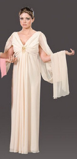 Adult Roman Queen Costume - Beige