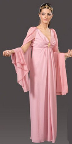 Adult Roman Queen Costume - Dusty Rose