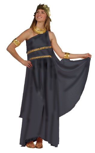 Adult Roman Toga Costume (Black)