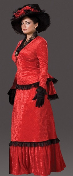 "Adult ""Sadie"" Victorian Dress - Scarlet"