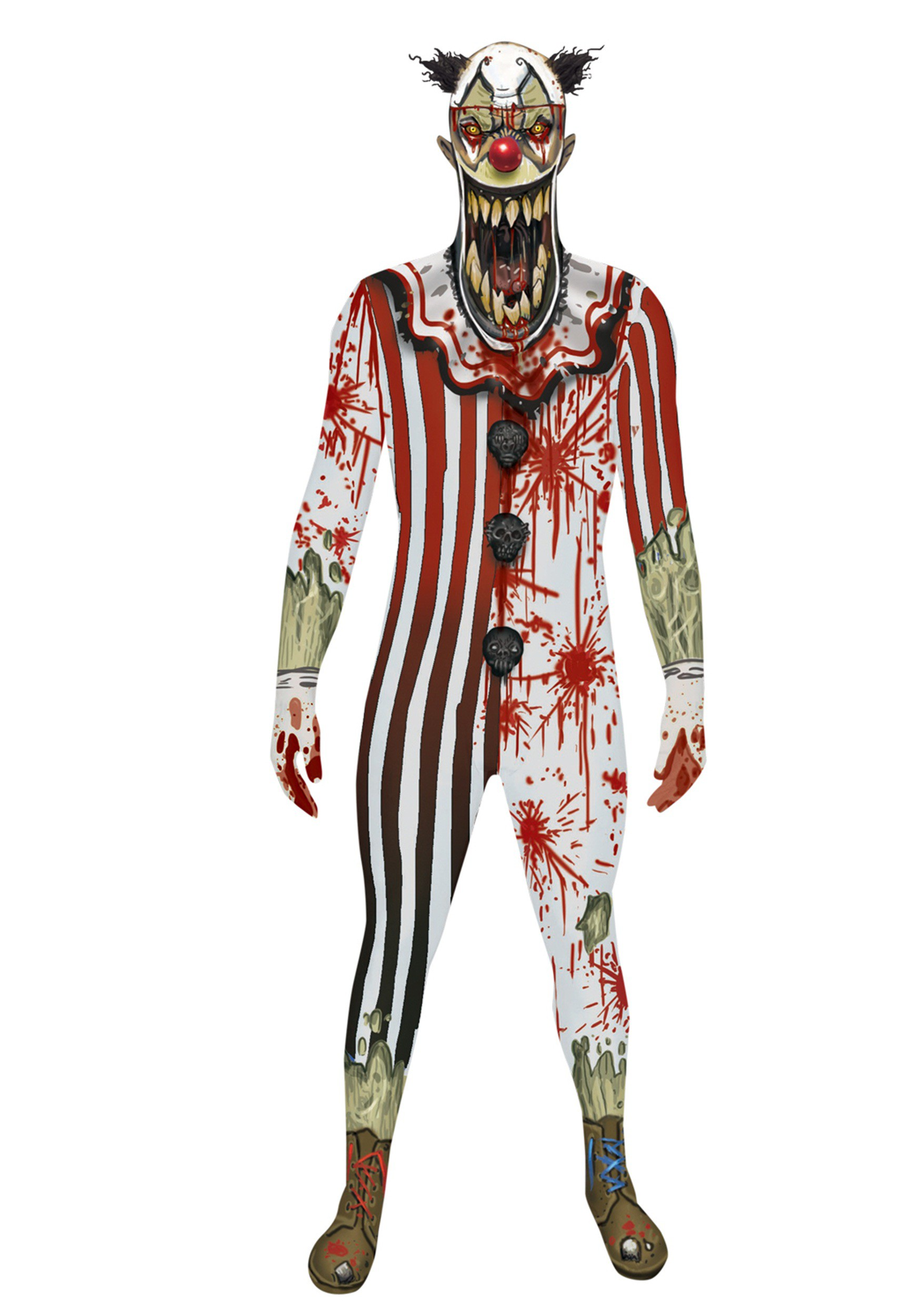 Adult Scary Clown Jaw Dropper Morphsuit