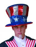 Adult Sequined Uncle Sam Top Hat