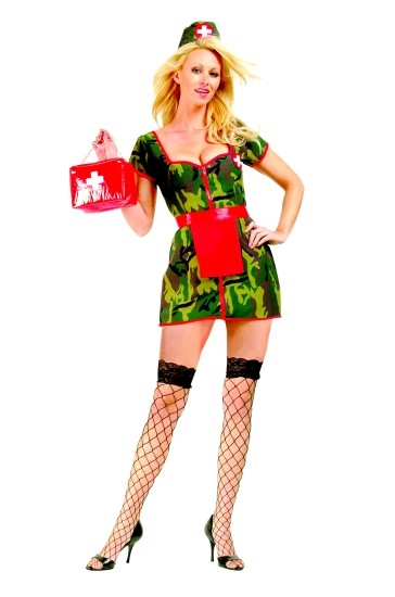 Adult Sexy Army Nurse Costume
