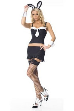 Adult Sexy Bunny Gangster Costume