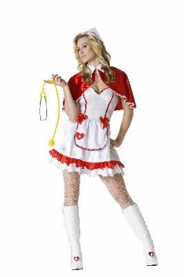 Adult Sexy Caped Nurse Costume