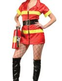 Adult Sexy Fire Fighter Costume - Red