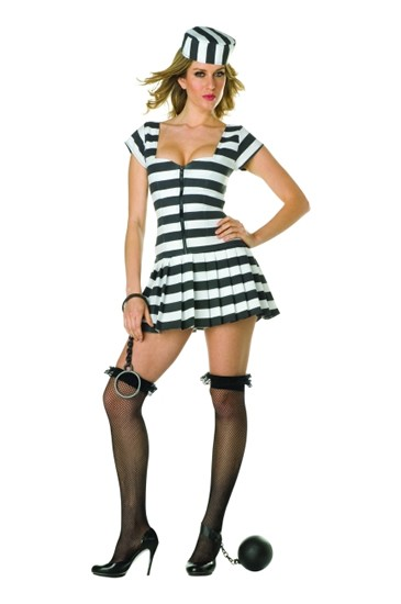 Adult Sexy Prisoner of Love Costume
