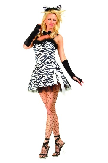 Adult Sexy Zebra Costume