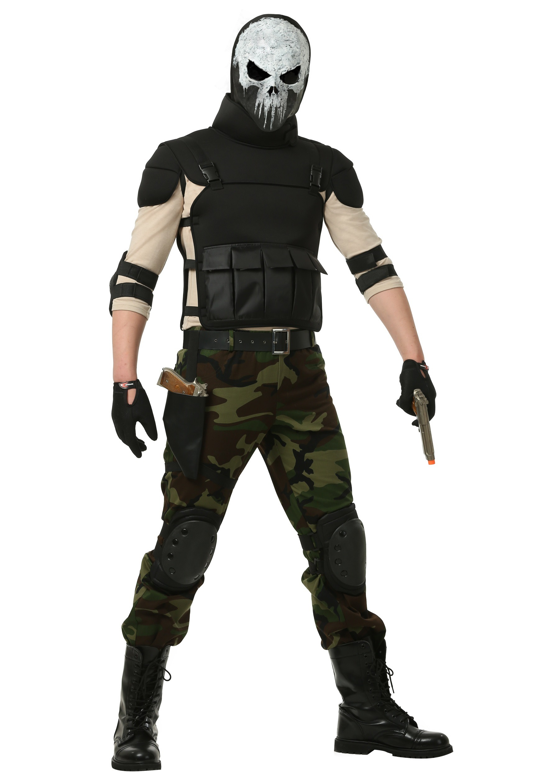 Adult Skull Military Man Costume