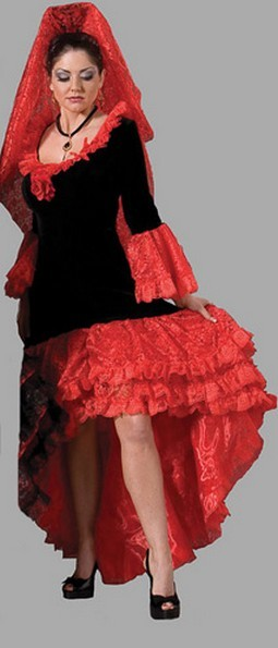 Adult Spanish Dancer Costume – Black