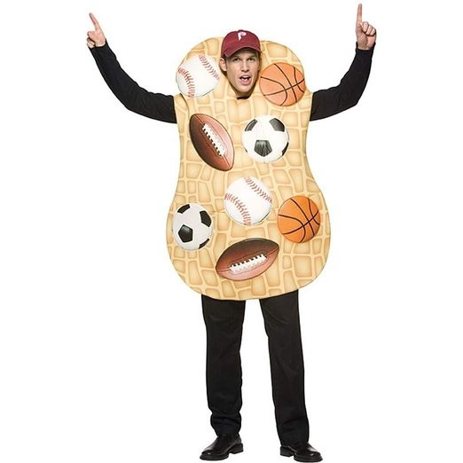 Adult Sports Nut Costume