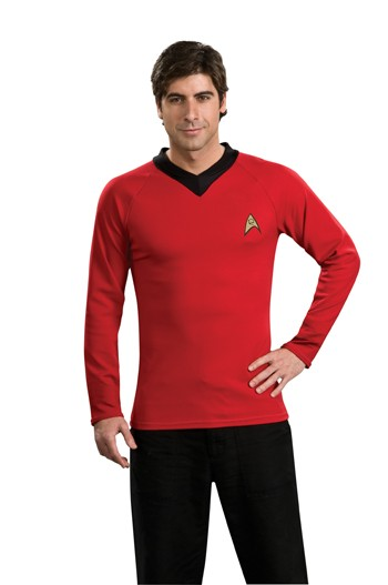 Adult Star Trek Classic Red Shirt Costume