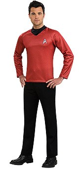 Adult Star Trek Red Shirt Costume
