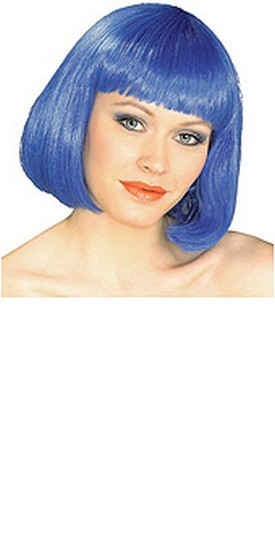 Adult Super Model Blue Wig