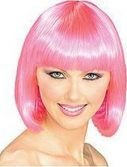 Adult Super Model Hot Pink Wig