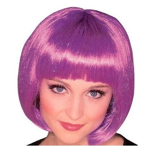 Adult Super Model Purple Wig