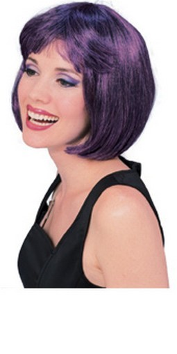 Adult Super Model Purple/Black Wig