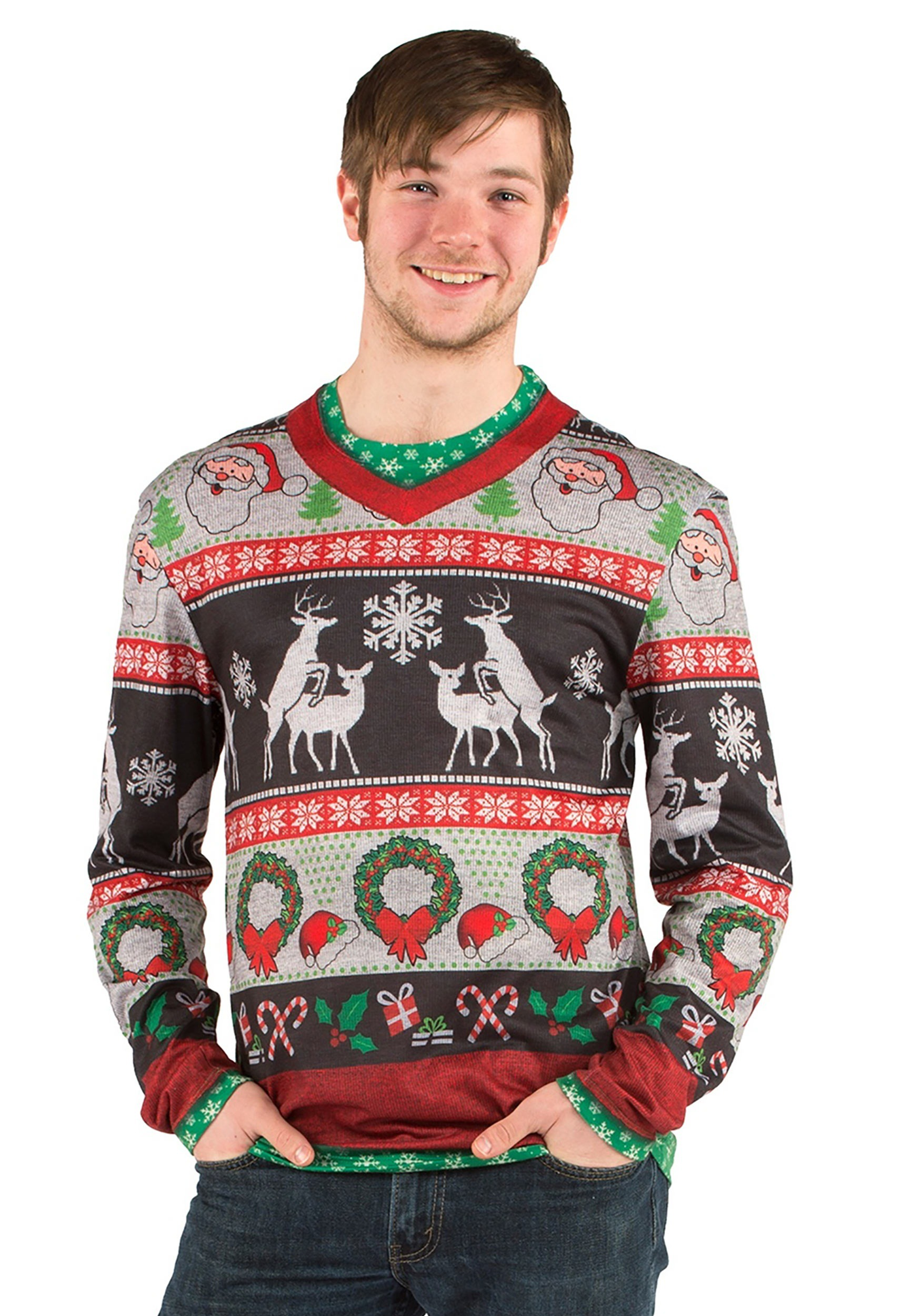 Adult Ugly Frisky Deer Sweater Shirt
