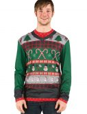 Adult Ugly Sweater Shirt with Candy Canes