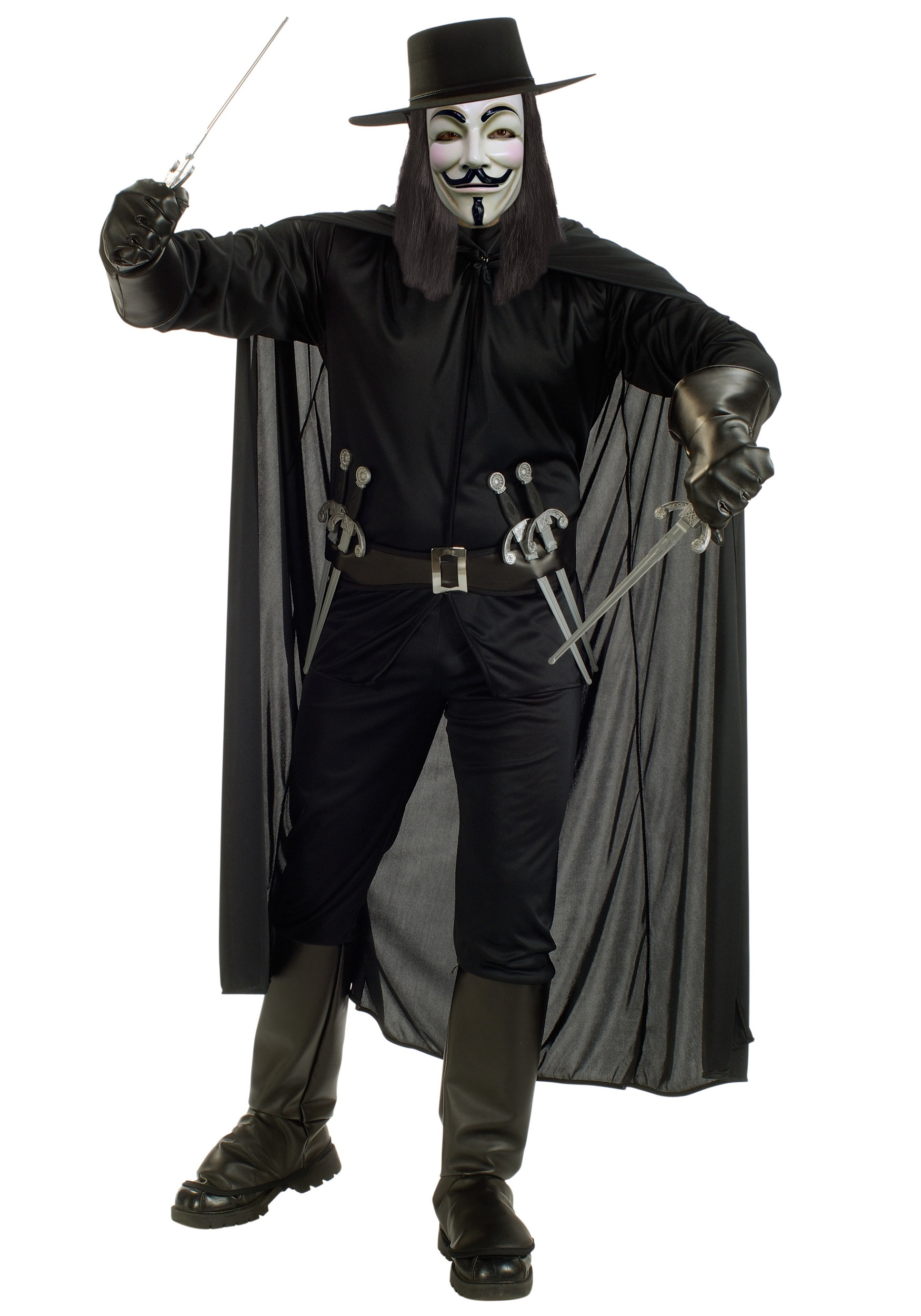 Adult V for Vendetta Costume
