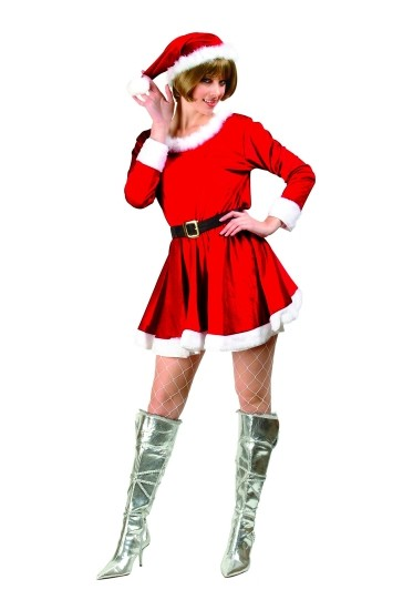 Adult Velvet Miss Santa Costume