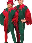 Adult Velvet Santa's Elf Costume