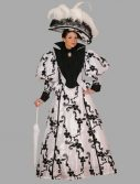 Adult Victorian Dress Costume ? White/Black