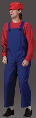 Adult Video Game Brother Costume (Red)