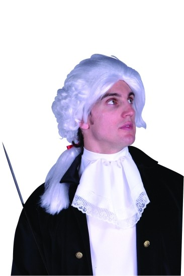 Adult White Colonial Wig