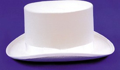 Adult White Felt Top Hat