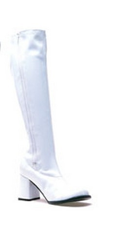 Adult White Go Go Boots