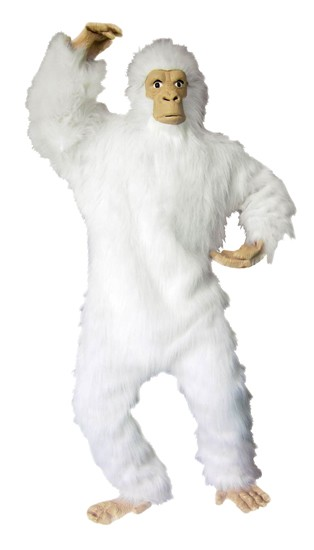 Adult White Gorilla Costume