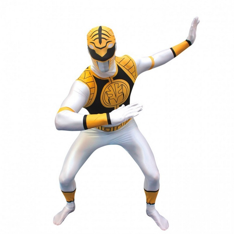 Adult White Power Ranger Morphsuit