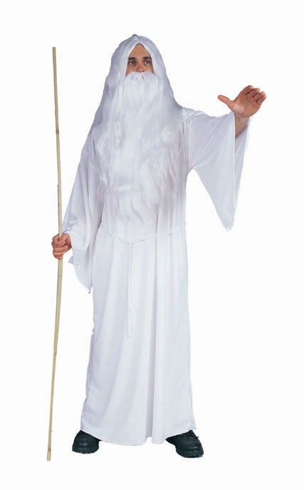 Adult White Wizard Costume