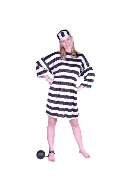 Adult Woman's Prisoner Costume