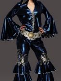Adult Women's 70's Disco Costume - Blue