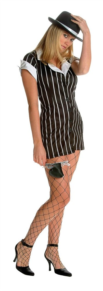 Adult Women's Mobster Costume  with hat