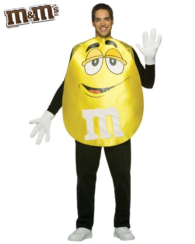 Adult Yellow M&M'S Character Poncho Costume