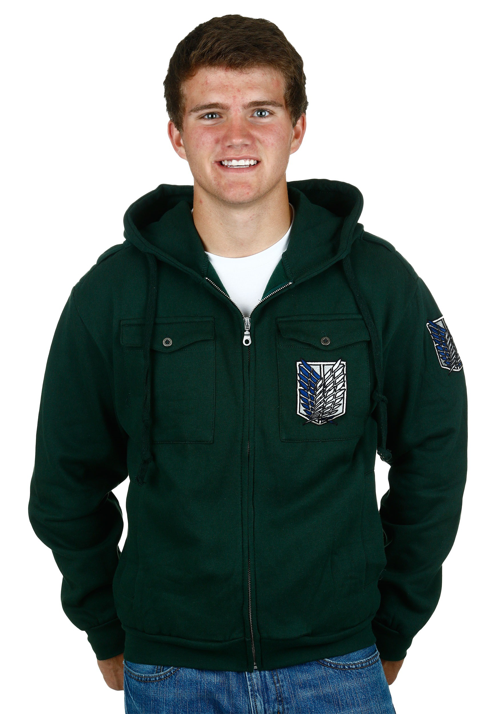 Attack On Titan Scout Regiment Chest Pocket Hoodie