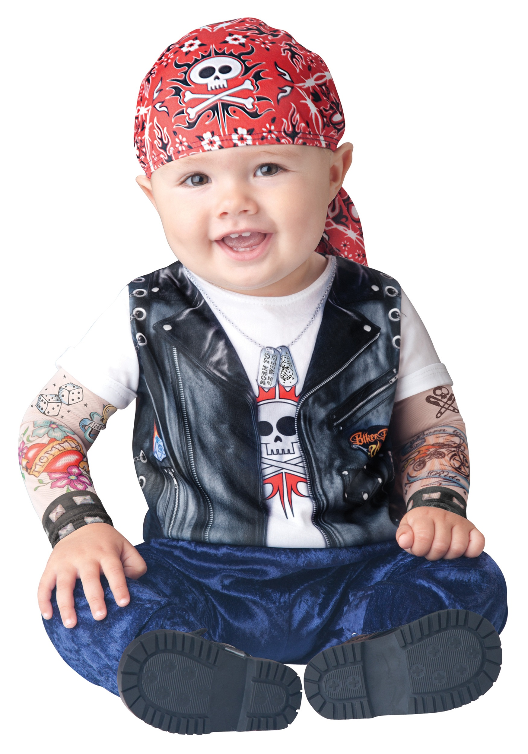 Baby Born to be Wild Biker Costume