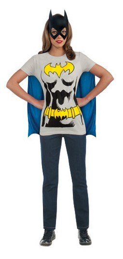 Batgirl T-Shirt With Cape And Mask