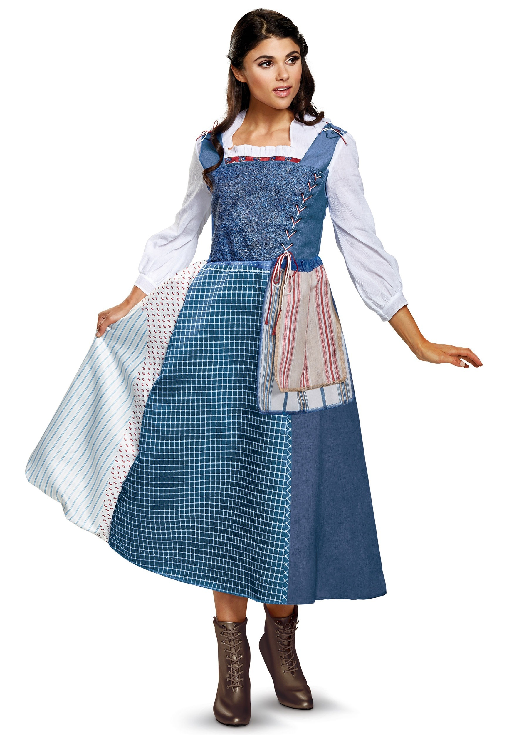 Belle Village Dress Deluxe Women's Costume