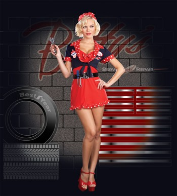 Betty's Full Service Mechanic Costume
