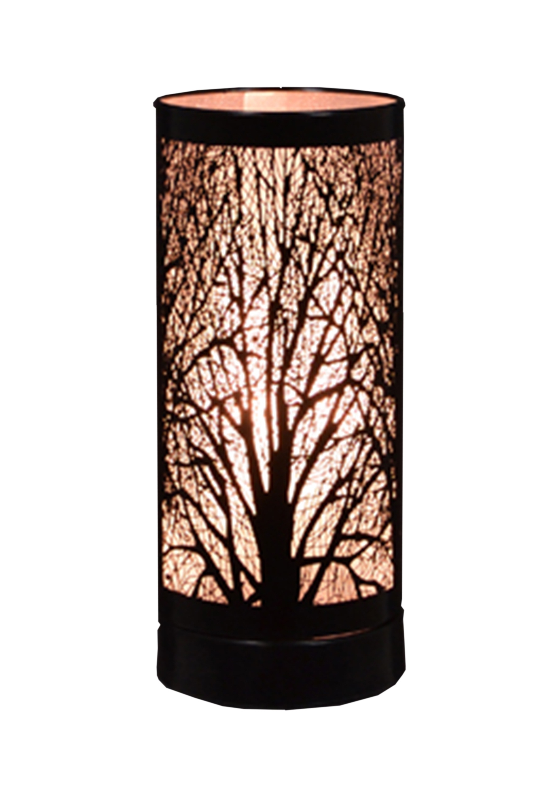 Black 8'' Birch Table Lamp