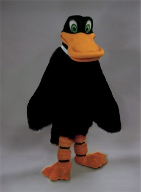 Black Duck Mascot Costume